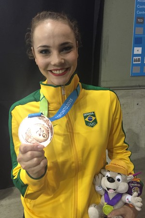 Angélica Kvieczynski ginástica Brasil (Foto: Gabriel Fricke)