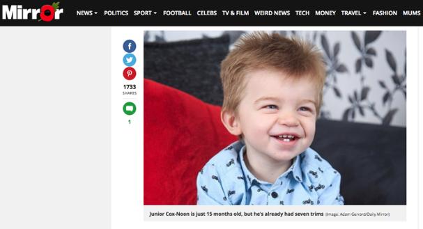 Bebê cabeludo (Foto: Divulgação/Daily Mirror)