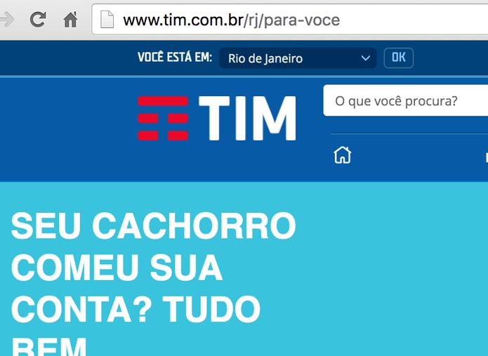 TIM: nova marca aparece no site oficial (Foto: Reprodução)