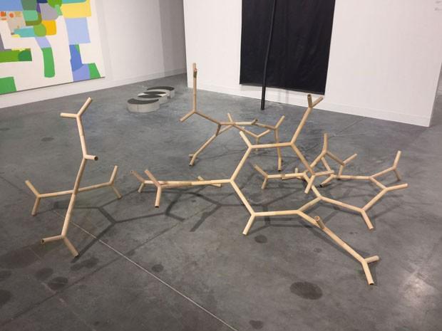 Para finalizar, amei, na Galeria Luisa Strina, as esculturas de Robert Rauschenberg… (Foto: Taissa Buescu)