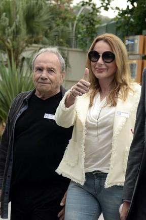 Stênio Garcia e Marilene Saade (Foto: Roberto Teixeira / EGO)