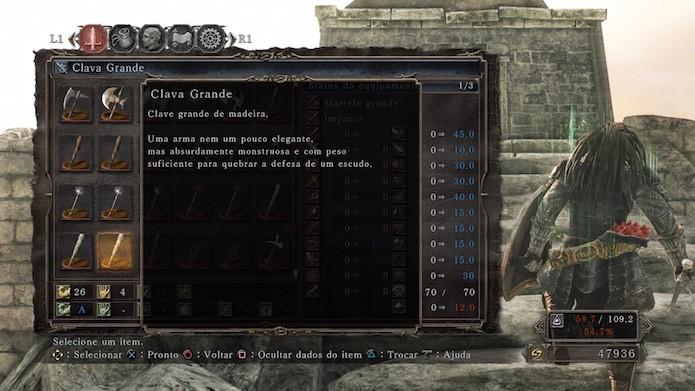 Dark Souls 2: Scholar of the First Sin: Clava Grande (Foto: Reprodução/Victor Teixeira)