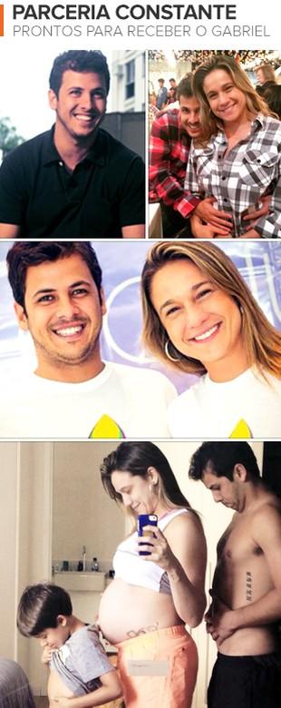 euatleta Fernanda Gentil e Matheus mosaico (Foto: eu atleta)