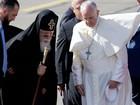 Papa Francisco chega à Geórgia