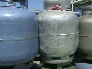 Botijão de gás  (Foto: Reprodução / EPTV)