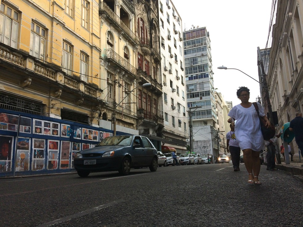 Rua Chile, em Salvador. (Foto: Alan Tiago Alves/G1)