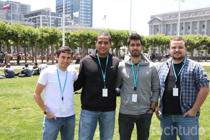 Natan, Salmo, Henrique e Gian: brasileiros analisam novidades da Apple (Foto: Fabrício Vitorino/TechTudo)