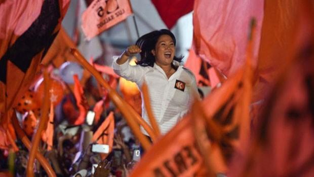 Keiko Fujimori se apresenta como candidata pela segunda vez pelo partido Força Popular  (Foto: AFP)