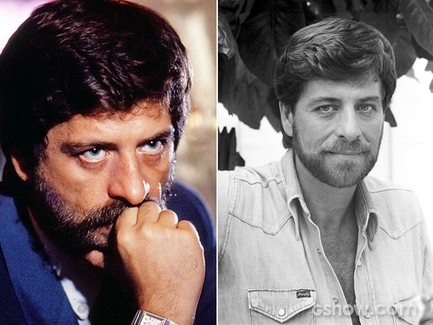 Flávios nos anos 80 durante os sucessos 'Corpo a Corpo' e 'O Outro' (Foto: Cedoc/TV Globo)