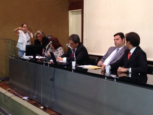 Vereadora Heloísa Helena clamou que vigência da lei fosse adiada (Foto: Natália Souza/G1)