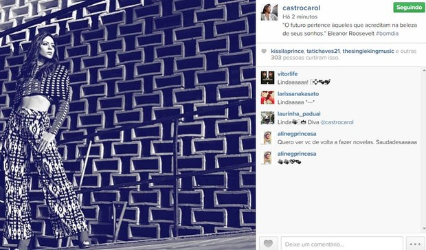 Carol Castro (Foto: Instagram / Reprodução)