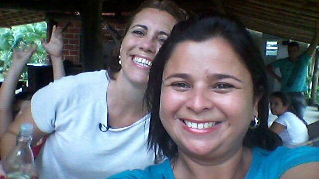 Rosana Valle e Dione Aguiar (Foto: Reprodução/TV Tribuna)