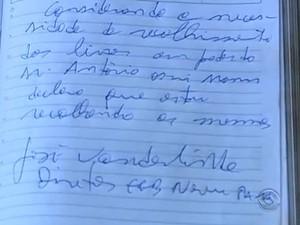 Diretor da escola assinou até uma declaração, garantia pedida pelo próprio catador (Foto: Reprodução/RBS TV)