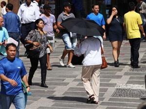 Calor forte em São Paulo (Foto: Renato S. Cerqueira/Futura Press)