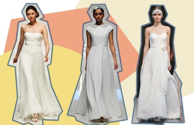 Vestidos de noiva para casamento de dia (Foto: Getty, ImaxTree e Reprodução)