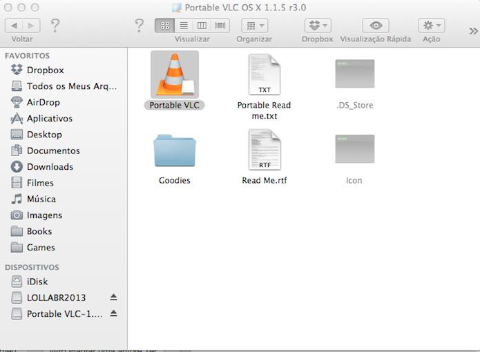 Clique duas vezes sobre o VLC portable para abrí-lo. (Foto: Reprodução)