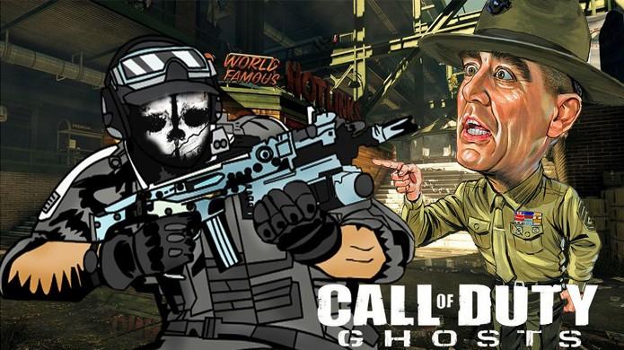 Sargento Hartman chega para botar ordem em Call of Duty: Ghosts (Foto: Cdcflooper / heartoftexasblog.com)