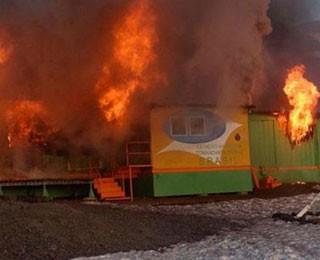 incendio (Foto: Marinha/divulgação)