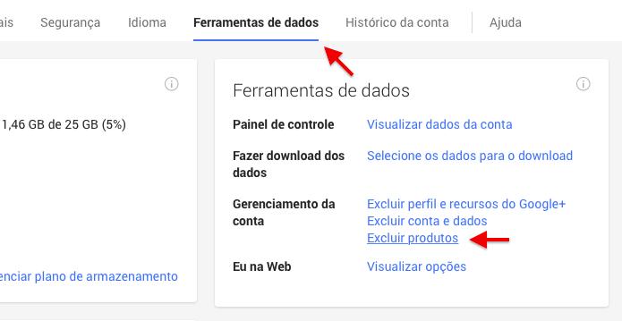 Acesse a página de configurações da conta Google (Foto: Reprodução/Helito Bijora)