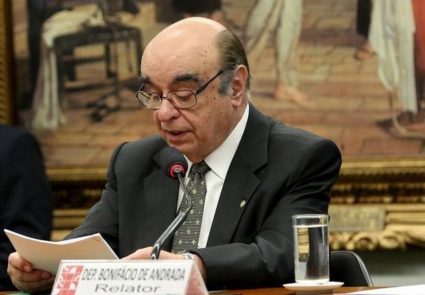 Bonifácio de Andrada em reunião da CCJ da Câmara para apreciar denúncia contra Temer (Foto: Wilson Dias/Agência Brasil)