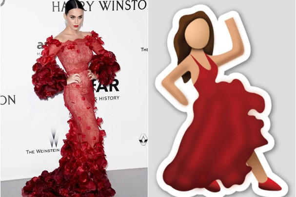 Katy Perry ou o emoji de bailarina do WhatsApp? (Foto: Getty Images)