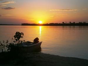 O sol poente é uma das imagens mais belas do Tocantins (Foto: Sydney Neto/ TV Anhanguera)