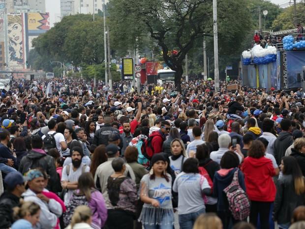 Marcha para Jesus 2016, em São Paulo (SP), nesta quinta-feira (26) (Foto: Newton Menezes/Futura Press/Estadão Conteúdo)