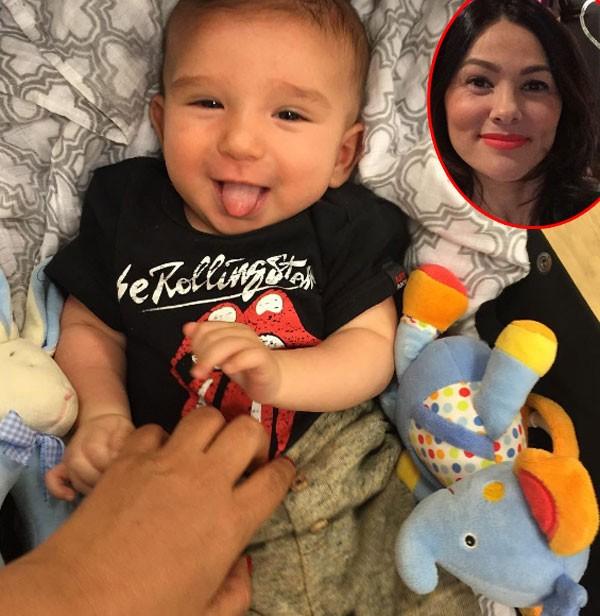 Benjamin é o primeiro filho da atriz Suzana Alves (Foto: Reprodução/Instagram)