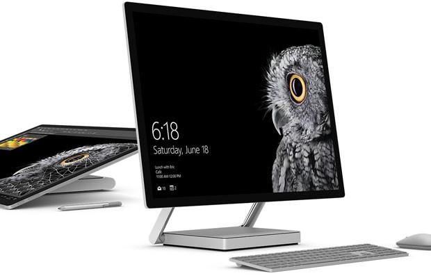 Surface Studio, o computador all-in-one da Microsoft, destinado a designers. (Foto: Divulgação/Microsoft)