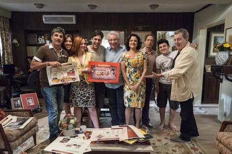 Daniel Filho grava participação em 'A grande família' (Foto:  TV Globo/ Ellen Soares)