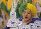 Leandro festeja a Copa sob chuva e granizo (Flavio Moraes/G1)