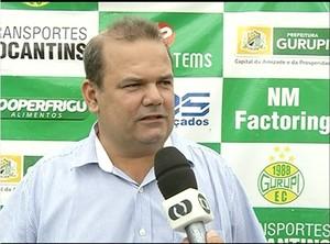 Wilson Castilho, presidente do Gurupi  (Foto: Reprodução/TV Anhanguera)