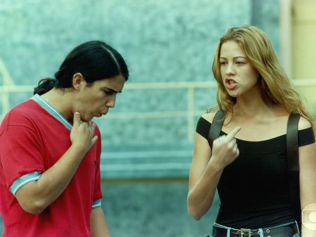 André contracena com Luana Piovani em Malhação (Foto: CEDOC / TV Globo)