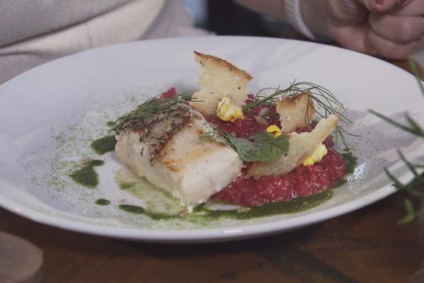 Hora do Rancho traz uma saborosa receita de peixe com risoto de beterraba. (Foto: Divulgação EPTV)