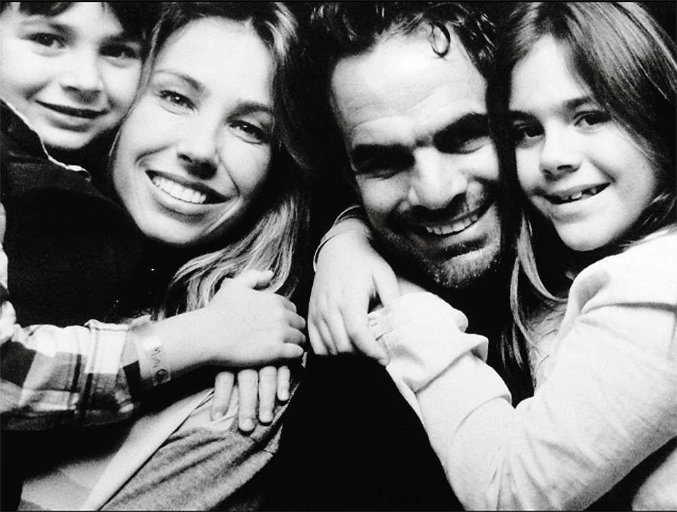 Camila e Luis Fernando com os dois filhos João Paulo e Ana Laura (Foto: arquivo pessoal)