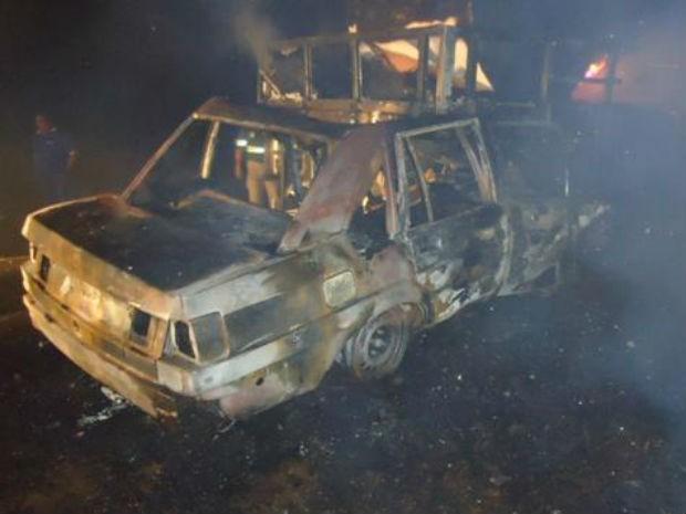 Policial militar de Telêmaco Borba morreu carbonizado após colisão na noite de quarta-feira (8) (Foto: Divulgação/PRE)