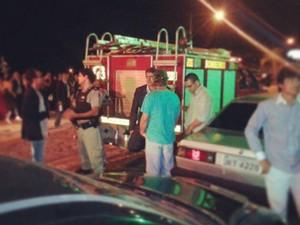 Corpo de Bombeiros interditou o local no momento da festa de formatura (Foto: VC no G1/ Patrícia Souza Morais)
