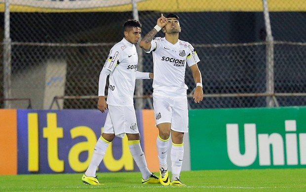 Gabriel gol Santos (Foto: Leandro Martins / Futura Press)