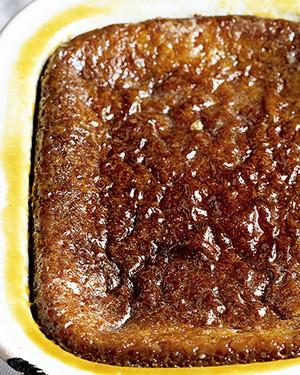Pudim de damasco com xarope de amarula (Foto: Great Stock/StockFood/Latinstock)