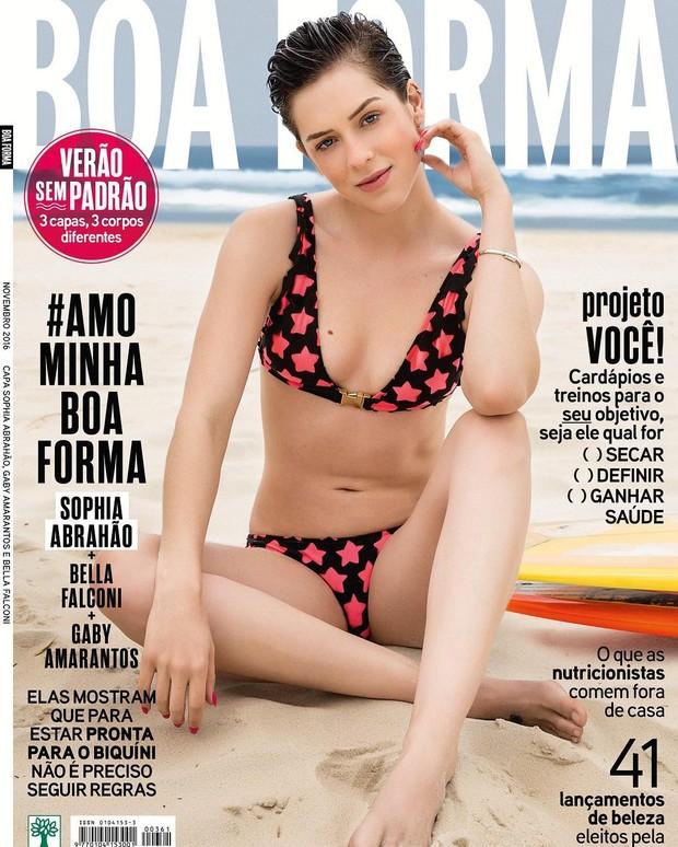 Sophia Abrahão na capa da Boa Forma (Foto: Reprodução/Instagram)