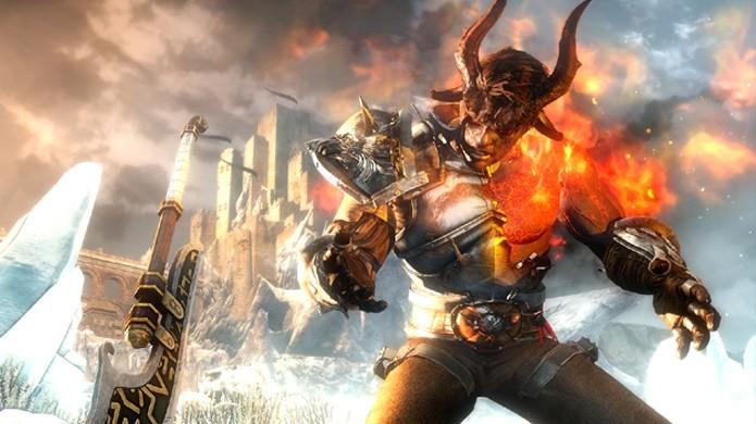 Conforme o progresso do jogador o personagem se torna mais poderoso, às vezes às custas de sua humanidade (Foto: vg247.com)