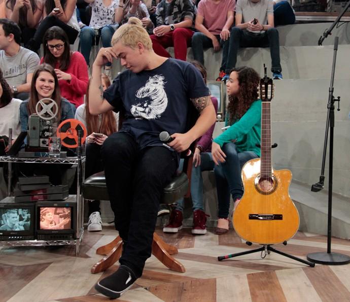 Whindersson Nunes brinca nos bastidores do 'Altas Horas' (Foto: Marcos Mazini/Gshow)