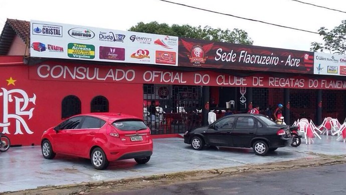 Torcida oficial do Flamengo inaugura sede recreativa, em Cruzeiro do Sul