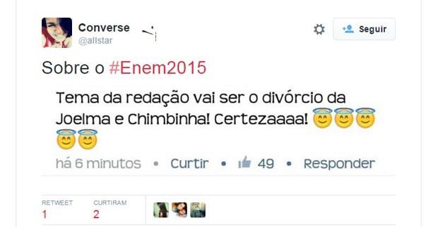 Enem 2015 - internautas postam piadas e lamentos sobre o dia da prova (Foto: Reprodução/Twitter)