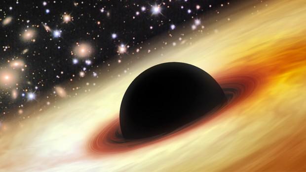 Buraco negro (Foto: Ilustração do buraco negro descoberto)