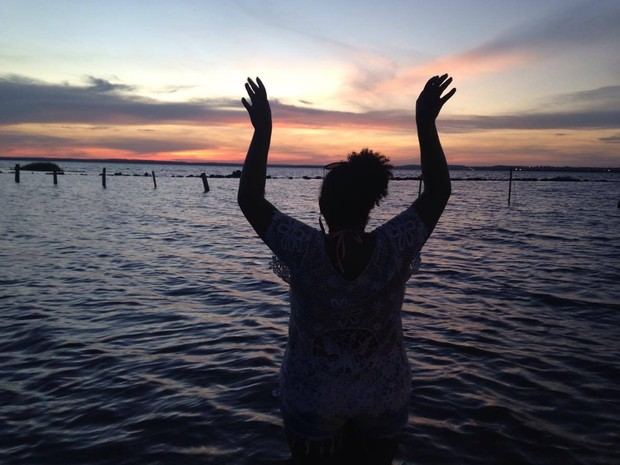 Jessyka disse que adorou o céu de Palmas (Foto: Jessyka Faustino/Arquivo Pessoal)
