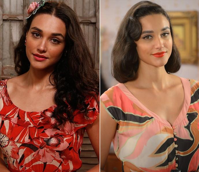 Débora Nascimento escovou e cortou os cabelos para a nova fase de Filó na trama (Foto: Pedro Carrilho/Gshow)