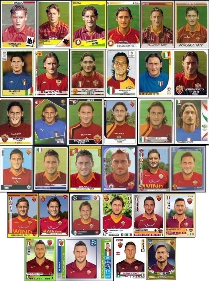 Figurinhas de Totti (Foto: Reprodução)