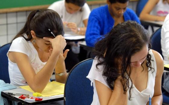 Alunos durante prova do ENEM em São Paulo (Foto: ABR)