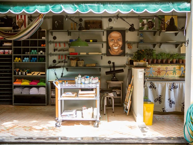 Garagem se transforma em ateli de arte no 'Decora' (Foto: GNT)